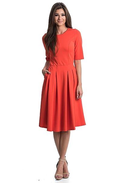 3ed22b3b9b4 Brigitte Swing Dress by Sexy Modest  Amazon.in  Clothing   Accessories