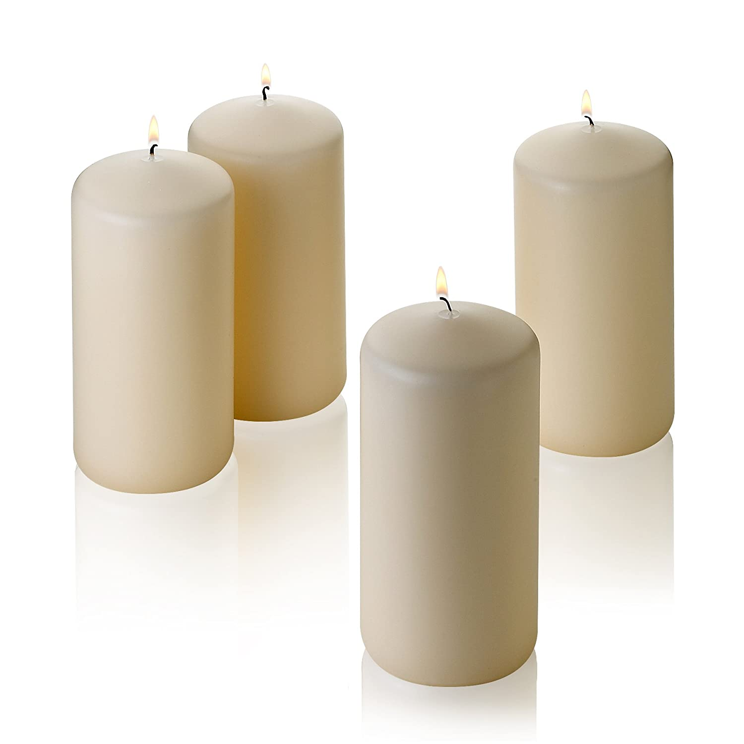 Light In The Dark French Vanilla Pillar Scented Candles 6 Tall X 3 Wide Set of 4