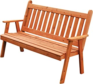 product image for Cedar 5' Traditional English Garden Bench, Cedar Stain