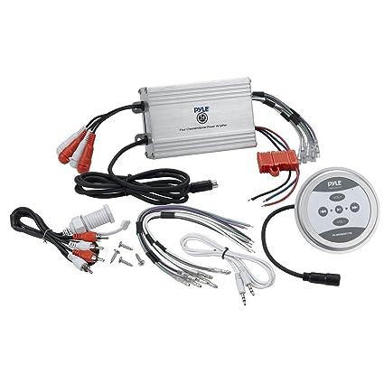 amazon com pyle compact bluetooth marine amplifier kit waterproof rh amazon com