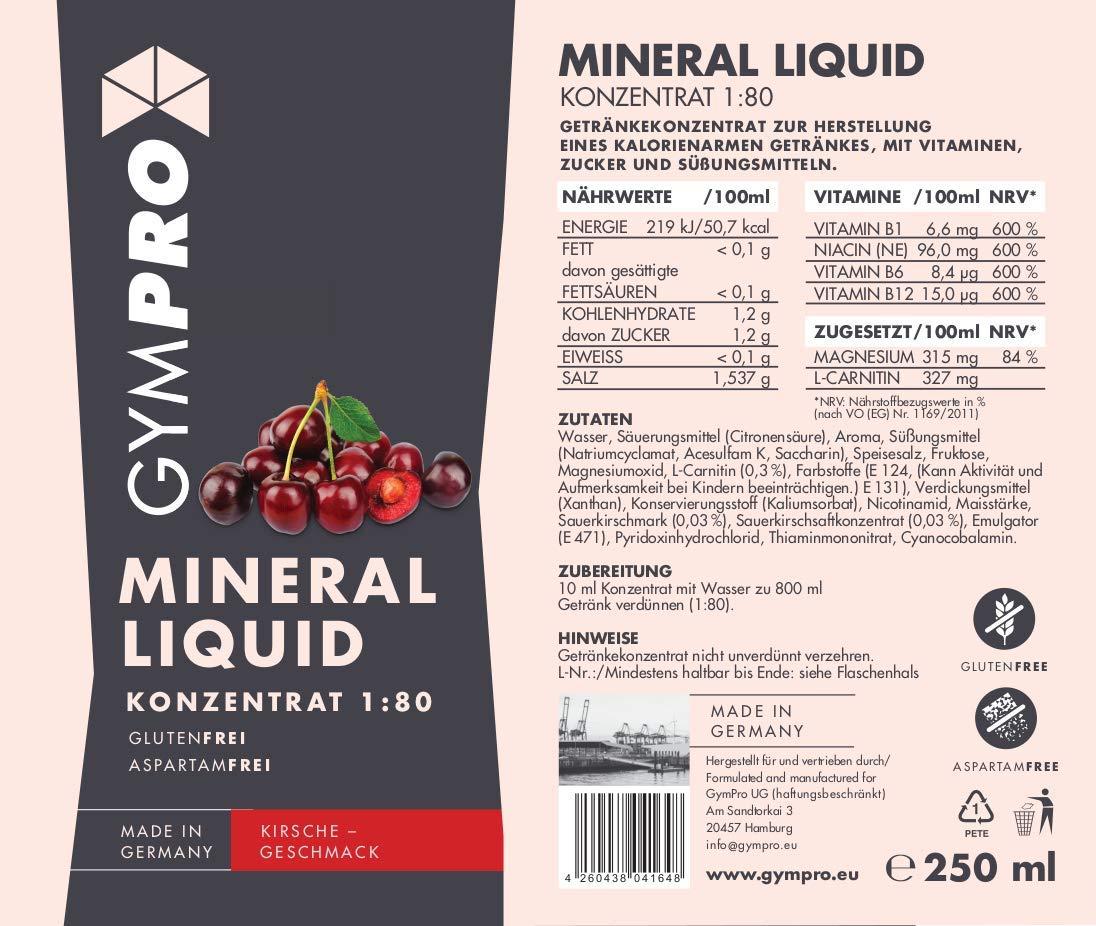 Low Carb Vitamina y mineral tipos de gympro en botella de 250 ml. 1: 80 concentrado para anmischen las bebidas.: Amazon.es: Salud y cuidado personal