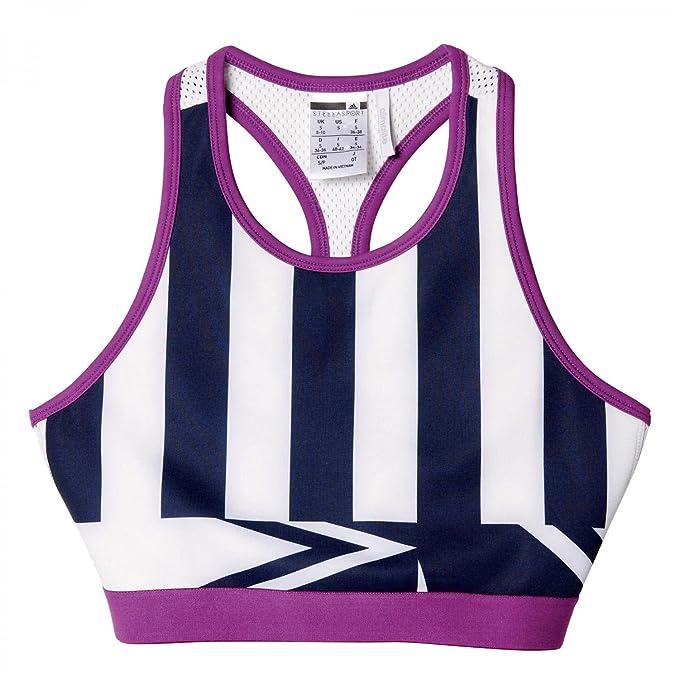 adidas Performance - Sujetador Deportivo - para Mujer Night Indigo/White S: Amazon.es: Ropa y accesorios