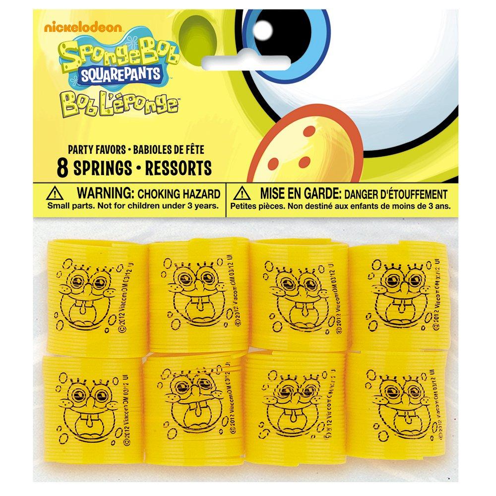 SpongeBob SquarePants Mini Springs Party Favors, 8ct Unique 68913