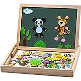 Uping Giocattolo Simpatica Lavagnetta Magnetica Educativa Puzzle di Animale per Bambini non Inferiori a 3 Anni