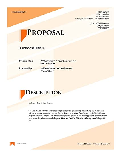 Amazon Com Proposal Pack Classic 5 Business Proposals