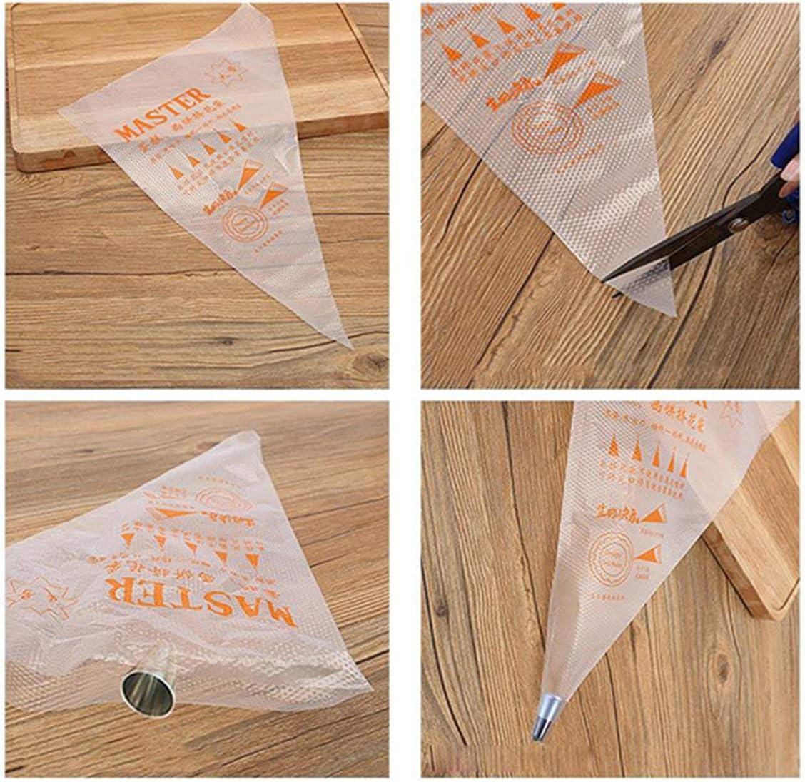 MarinoBIRD 100 Thick Plastic Disposable Pastry Bag Icing Piping Cake Cupcake Decorating Bag