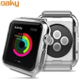 Oaky - Apple Watch 42mm Case Series 1/2/3 [Lightweight Fit] Soft TPU Candy Skin [Anti-Shock] Transparent Ultra-Thin Protective Bumper Case Cover Compatible with iWatch 42mm Case for Series 1, Series 2 , Series 3 [Clear]