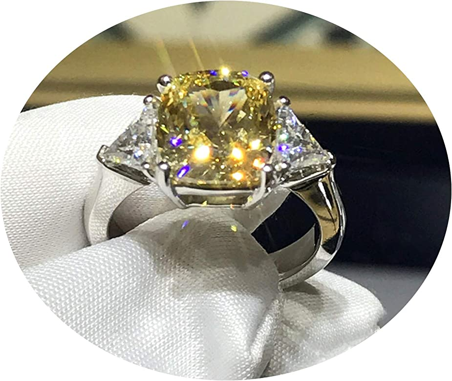 Anillos de Diamantes Anillo para Compromiso Costura Amarilla de ...