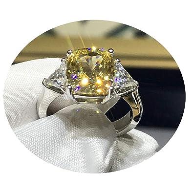 Anillos de Diamantes Anillo para Compromiso Costura Amarilla ...