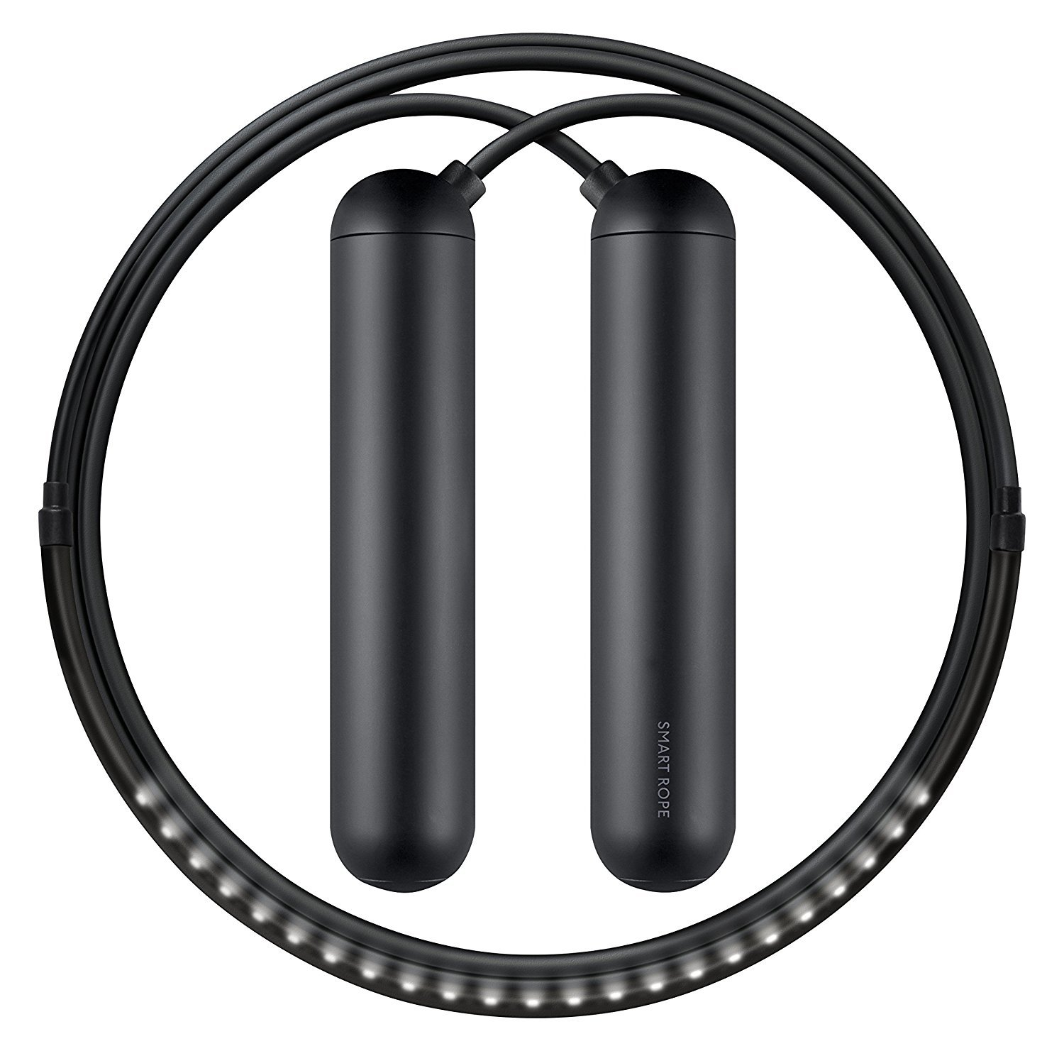 TANGRAM Factory Smart Rope - LED Embedded Jump Rope (Black, Small) by TANGRAM (Image #1)