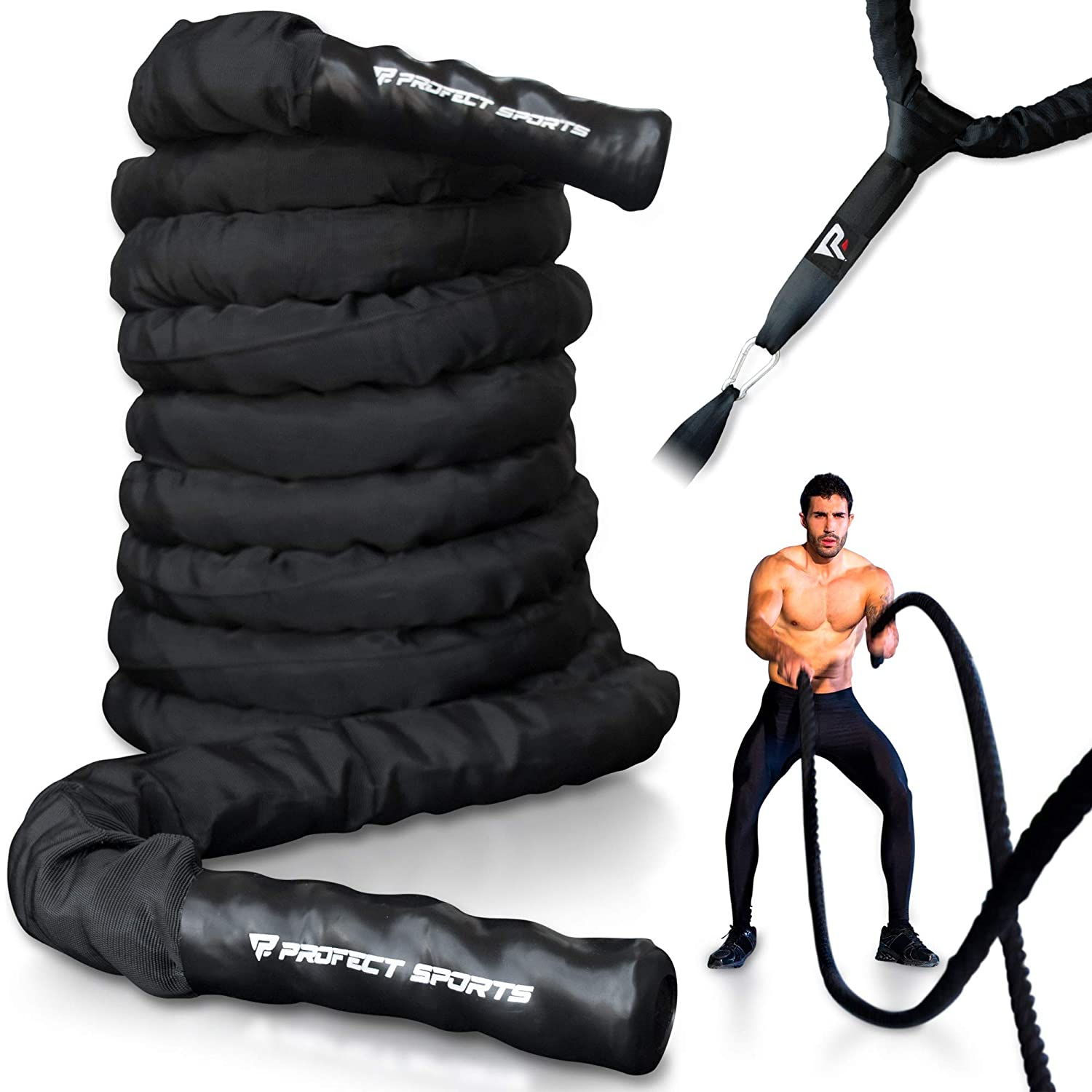 Pro Battle Ropes with Anchor Strap