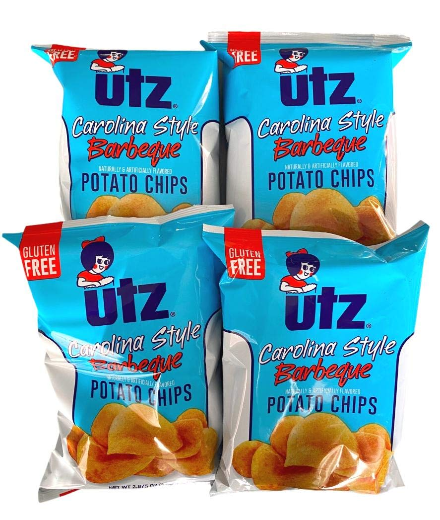 UTZ Quality Foods Carolina Style Barbeque Potato Chips 2.875 oz Bags - Pack of 4
