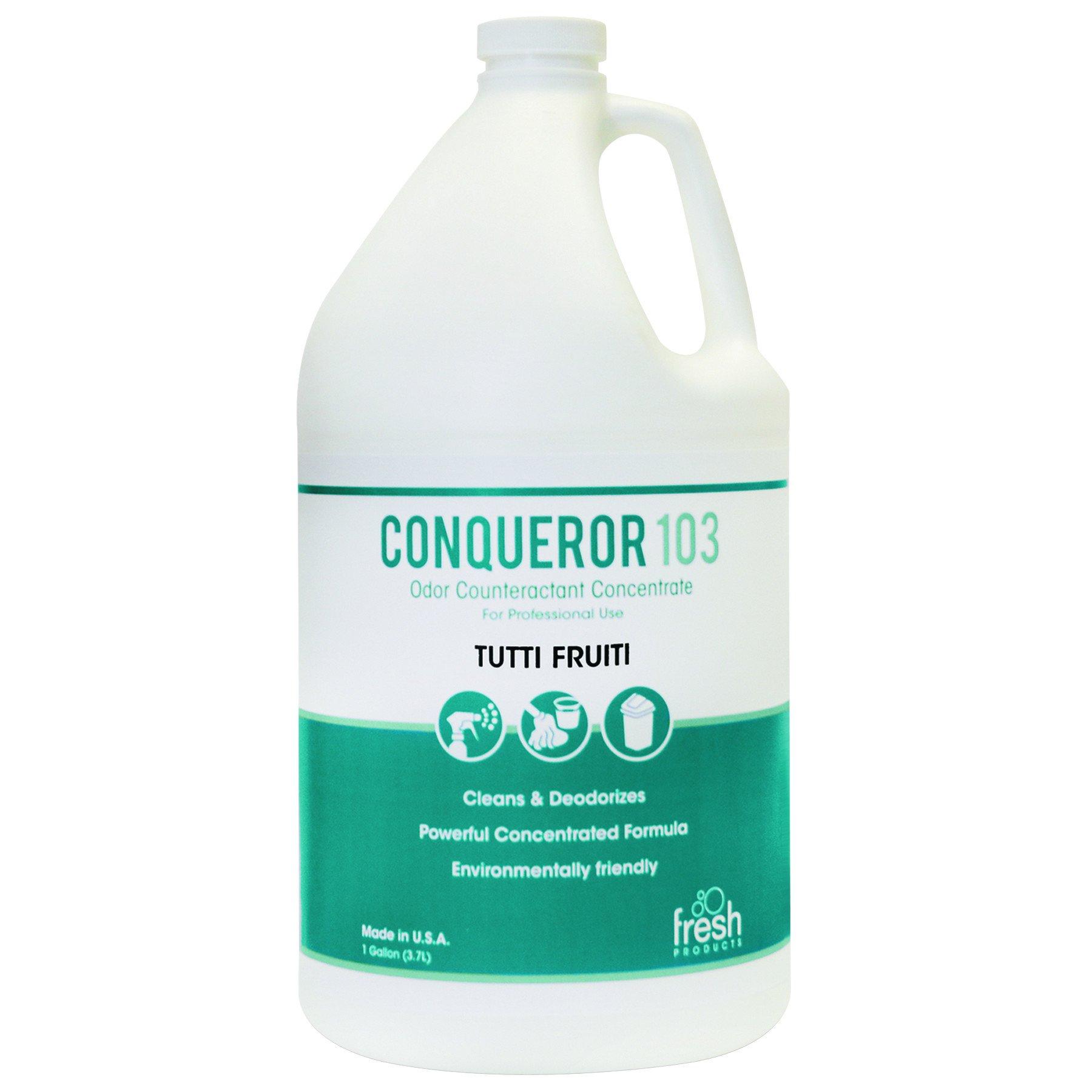 Fresh Products 1WBTU Conqueror 103 Odor Counteractant Concentrate, Tutti-Frutti, 1 Gallon Bottle (Case of 4)
