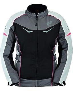 JET Chaqueta Moto Mujer Textil Impermeable con Armadura ...