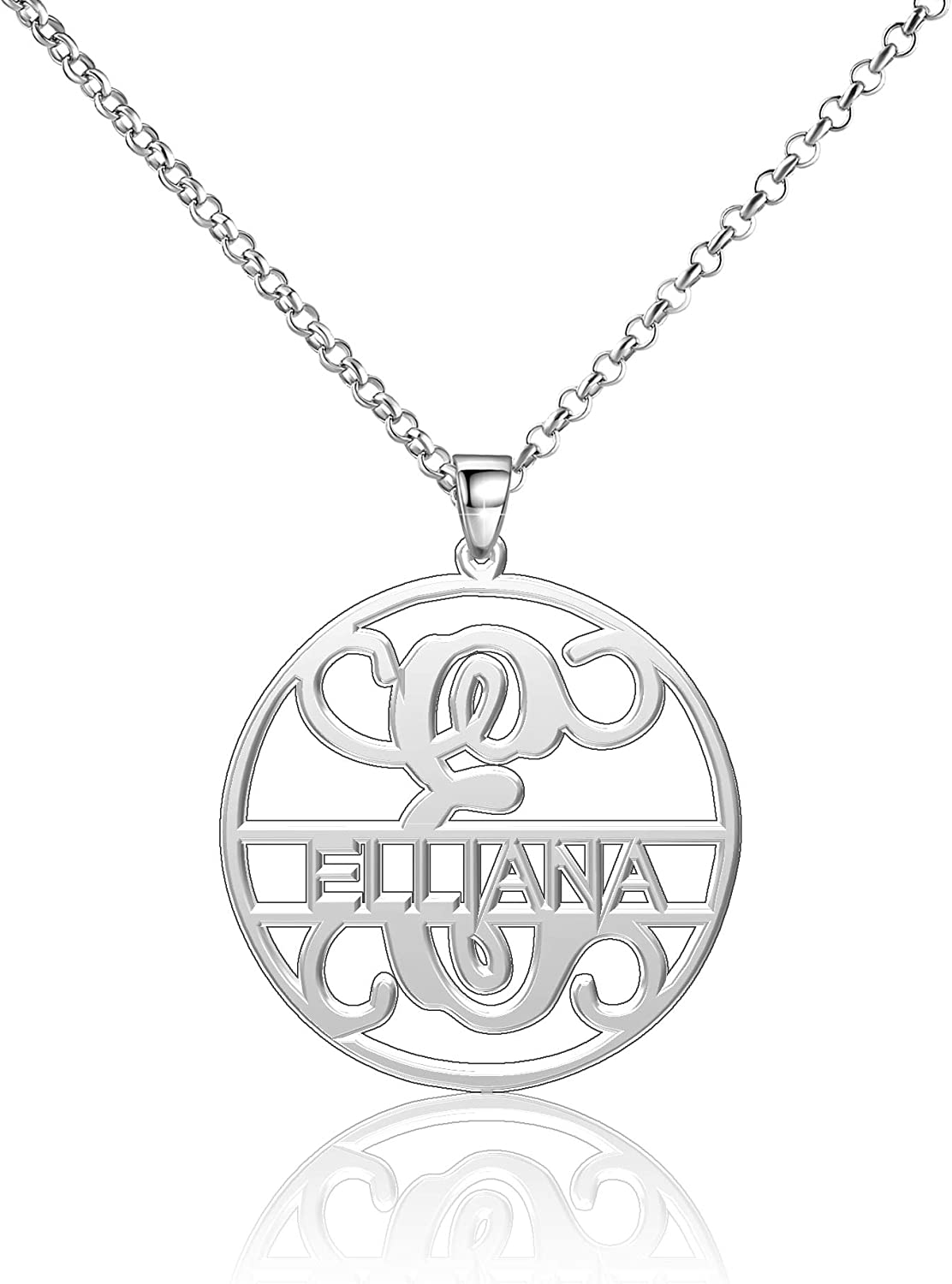 Moonlight Collections Elliana Necklace Personalized Necklace Sterling Silver