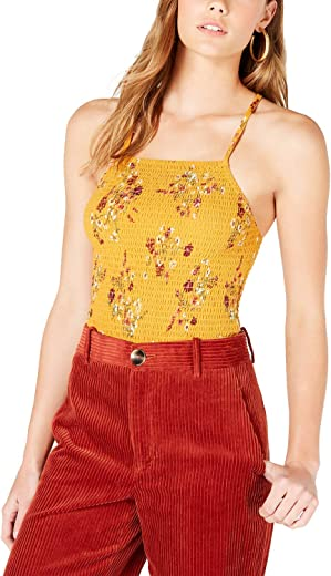 Hippie Rose Juniors' Smocked Crisscross-Strap Top