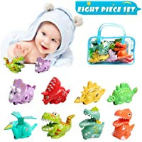 OKPOW Dinosaurios Juguetes Inercia Cars 8 Pack, Baby Dinosaur Toy Press y Go Animal Model Playset