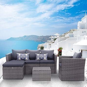 amazon com view co patio sofa patio furniture 6 pcs outdoor rh amazon com