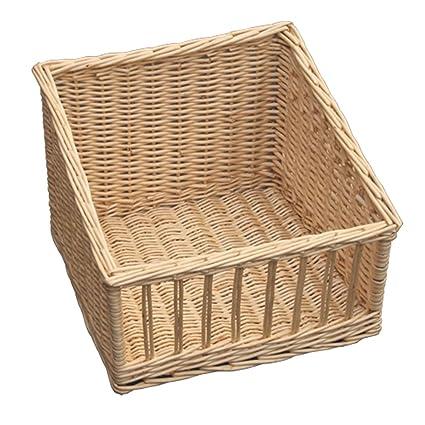 Rojo cesta pantalla Bakers bandeja, mimbre, marrón, 40 x 39 x 30 cm