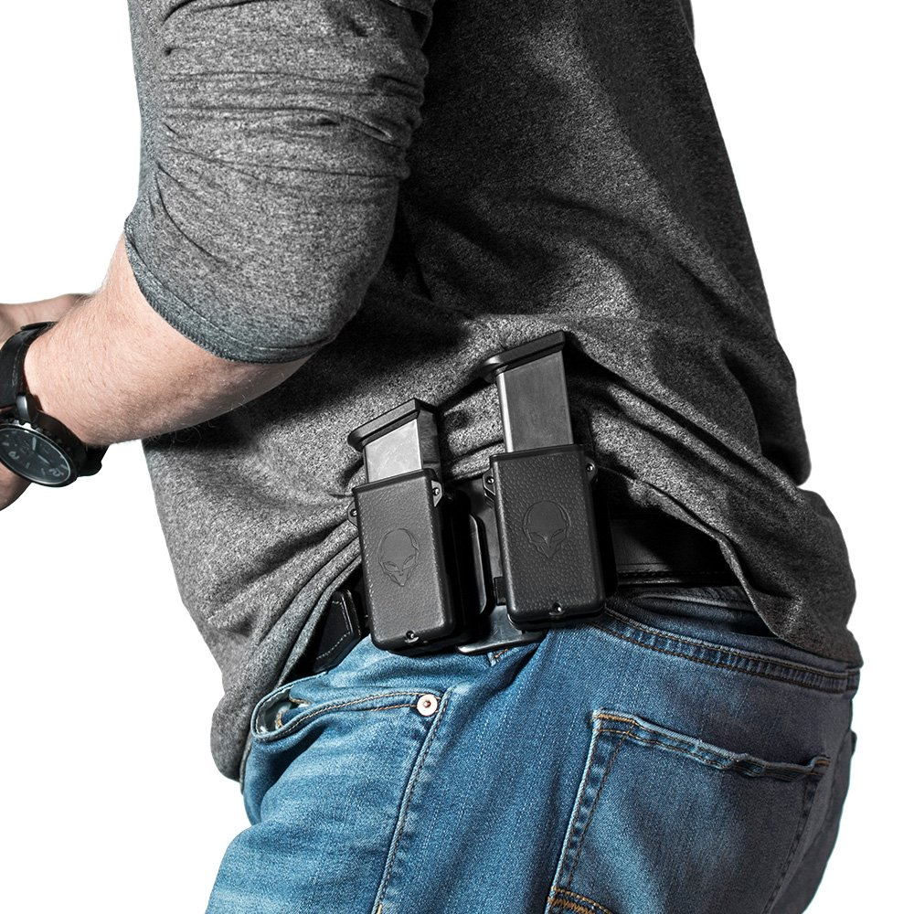 Alien Gear holsters Double Cloak Mag Carrier - 380 Auto / 32 ACP Single Stack