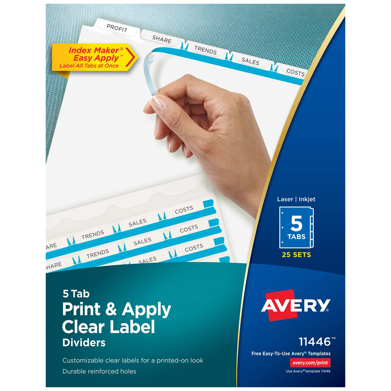 amazon co jp index maker clear label dividers 5 tab letter
