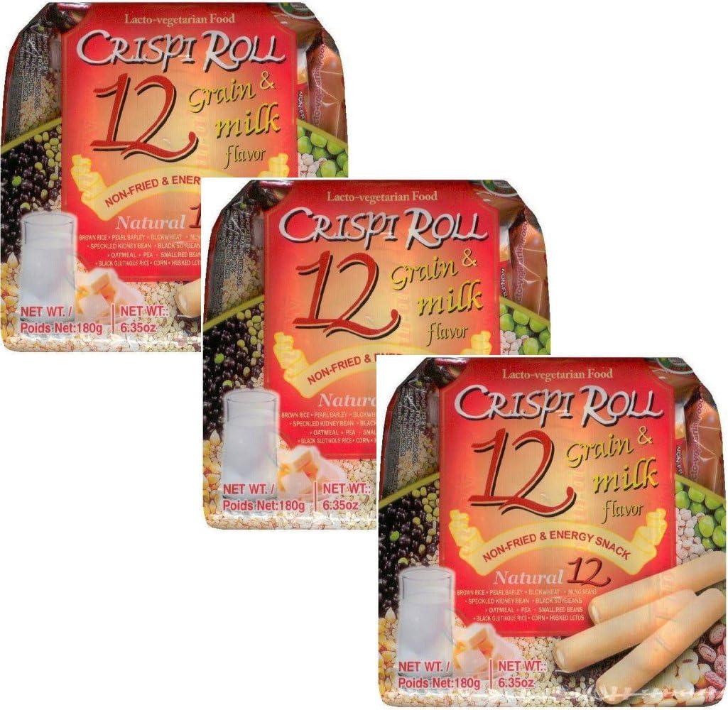 Ovo-vegitarian Food Crispi Roll 12 Grain & milk Flavor (3 Pack of 12) 크리스피 롤 12 곡물 (3 Pack of 12)