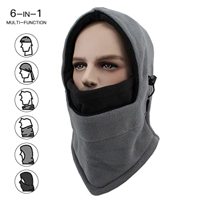 Balaclava Fleece Hood, Winter Windproof Ski Face Mask, Cold Weather Full Face Mask Balaclava Outdoor Sports Mask for Men, Women and Children