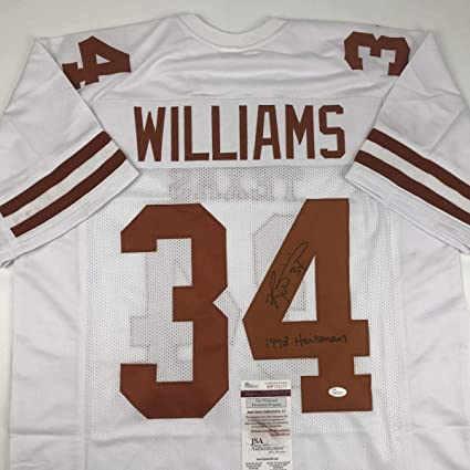 Image Unavailable. Image not available for. Color  Ricky Williams  Autographed Jersey - 1998 Heisman White COA - JSA ... 0465da29d