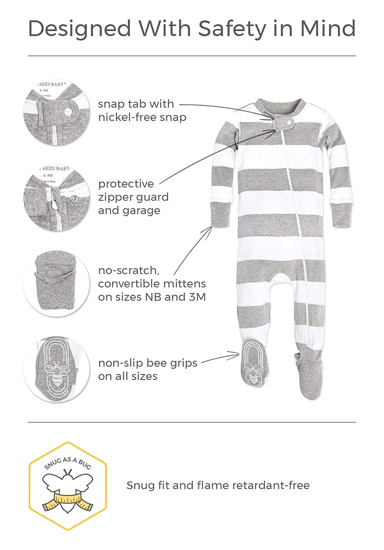 60746deac Amazon.com  Burt s Bees Baby - Baby Girls  Sleeper Pajamas