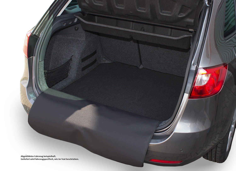 Kofferraummatte mit abnehmbarem Stoß stangenschutz fahrzeugspezifisch AZUGA
