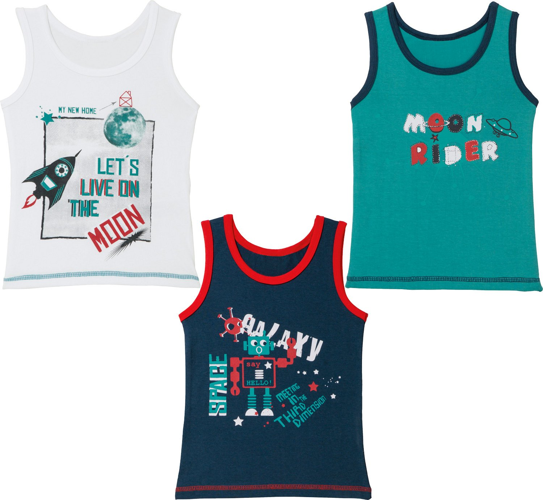 Kinderbutt Unterhemd 3er Pack mit Druckmotiv Kinderbutt Amazon Bekleidung