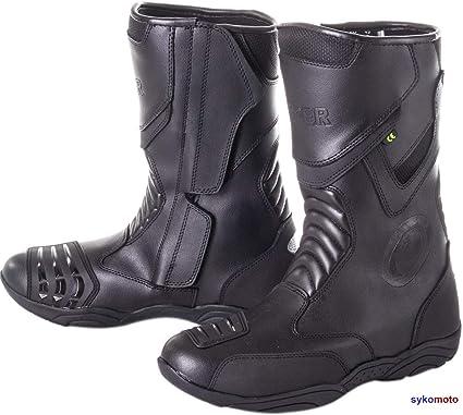 Viper 866 Bottes de Moto pour Homme Homologu/é CE HOMOLOGATED Chaussures de Protection en Cuir imperm/éables pour Touring Urban Commuting Chaussures de s/écurit/é Noir