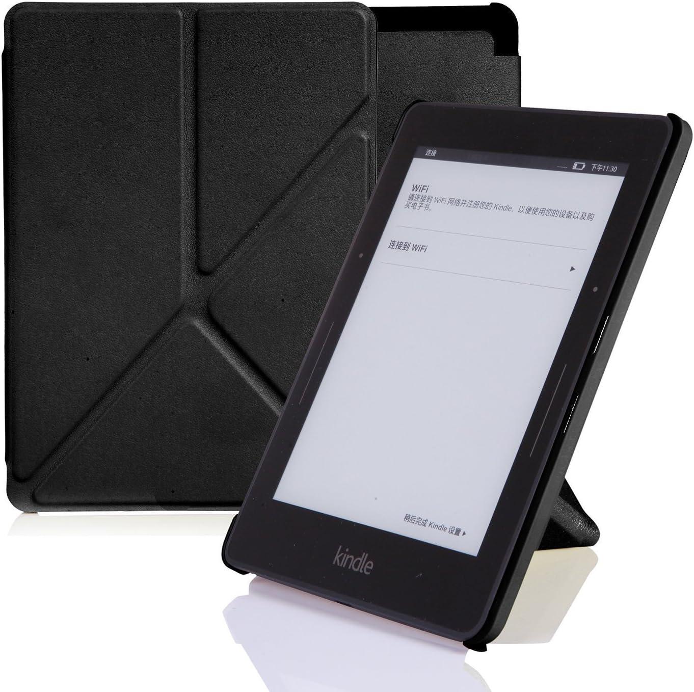 NOUSKE Funda Origami para Kindle Voyage de Amazon, Negro ¨®Nix ...