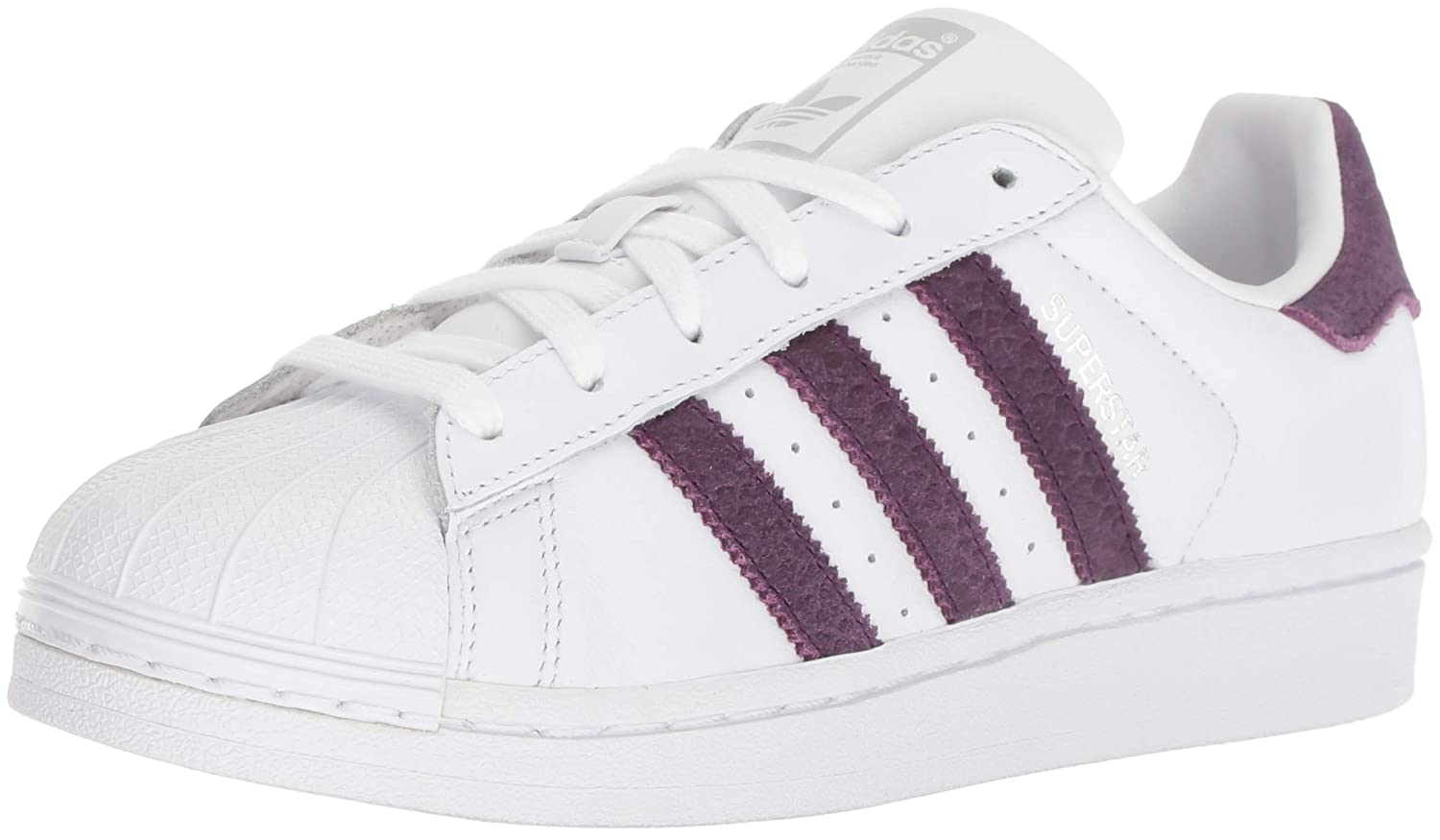 the latest 76d48 bd89a adidas Originals Women's Superstar Shoes Running, White/red Night/Silver  Metallic, 9 M US