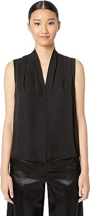 a4c6d97929aa8f Amazon.com  Vince Womens Sleeveless Drape Neck Blouse  Clothing