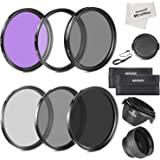 Neewer 52MM Must Have Lens Filter Accessory Kit for NIKON D7100 D7000 D5200 D5100 D5000 D3300 D3200 D3100 D3000 D90 D80 DSLR Cameras- Includes: 52MM Filter Kit (UV, CPL, FLD) + ND Neutral Density Filter Set (ND2, ND4, ND8) +
