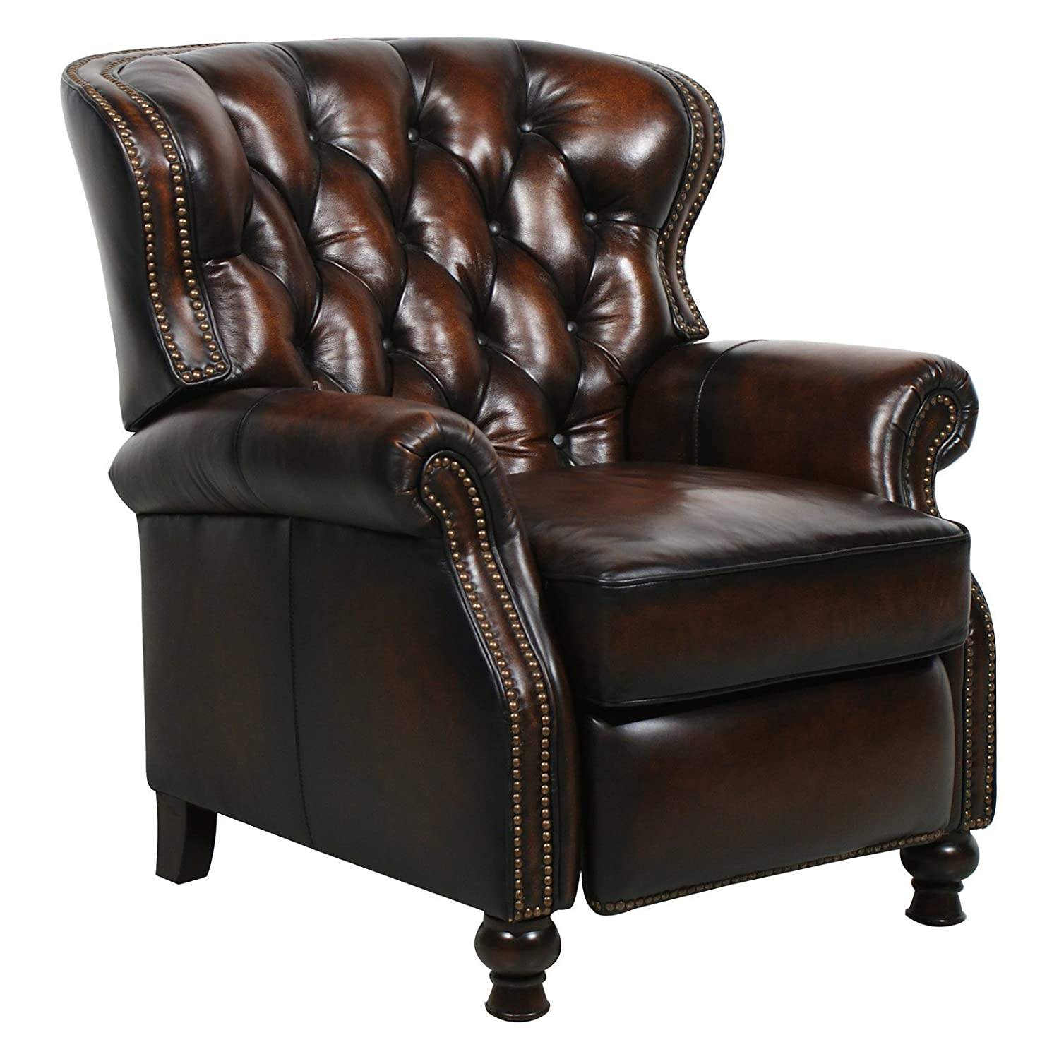 Amazon.com: Presidential Ll Top Grain Leather Chair Manual Recliner By  Barcalounger: Kitchen U0026 Dining