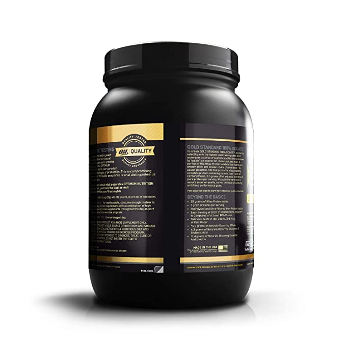 18dfe2448 Buy Optimum Nutrition (ON) Gold Standard 100% Isolate Whey Protein Powder -  1.6 lb