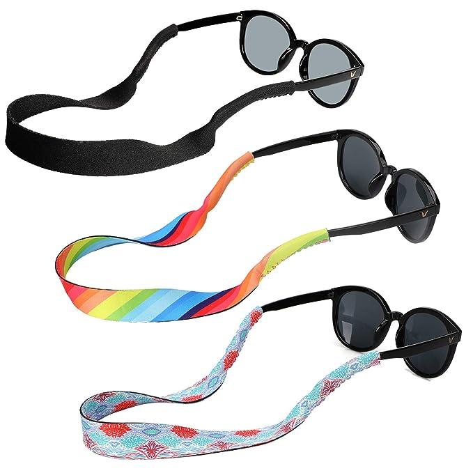 Hifot Sunglasses Holder Strap 3 Style, Adjustable Floating Eyewear Retainer, Quick Dry Neoprene Eyeglasses Strap Retainer