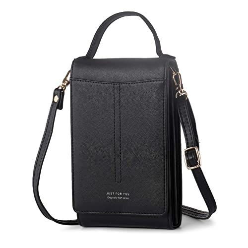 d9d1cc90c89 Image Unavailable. Image not available for. Color  Cell Phone Purse Small Crossbody  Bag Women PU Leather ...