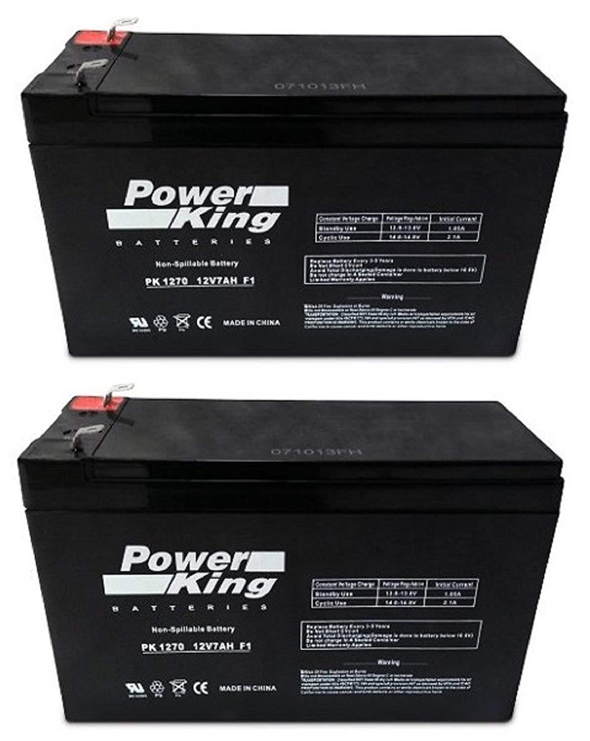 12V 7AH SLA Battery Replaces gp1272 np7-12 bp7-12 npw36-12 ps-1270 ub1280 - 2 Pack Beiter DC Power FM500