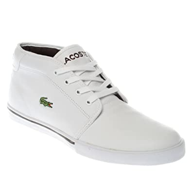 cc6ba804e Lacoste Mens Ampthill Tl SPM Leather Trainers White 11 UK  Amazon.co ...