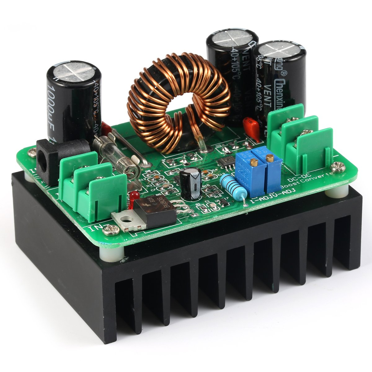 Geree Dc Boost Converter 10 60v To 12 80v Step Up Simple Automobile Voltage Regulator When Batteru Drops Below 600w Auto Power Supply Transformer Adjustable Output Volt Controller
