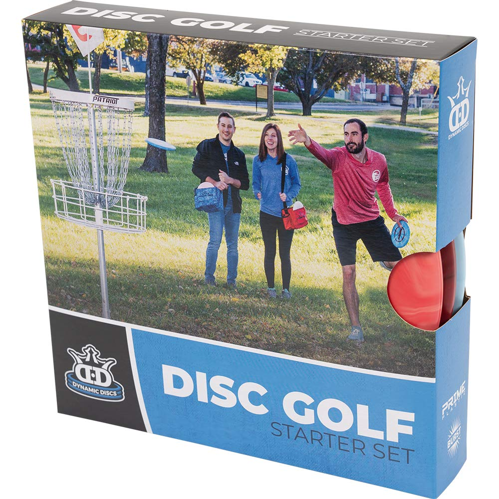 Dynamic Discs Prime Disc Golf Starter Set - Distance Driver, Midrange Driver and Putter All in Prime Plastic with Extra Grip for Beginners by Dynamic Discs