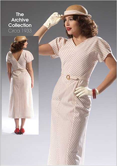 McCall/'s Pattern M7153 ~ Archive Collection Circa 1933 Dress ~ Size  A5 or E5