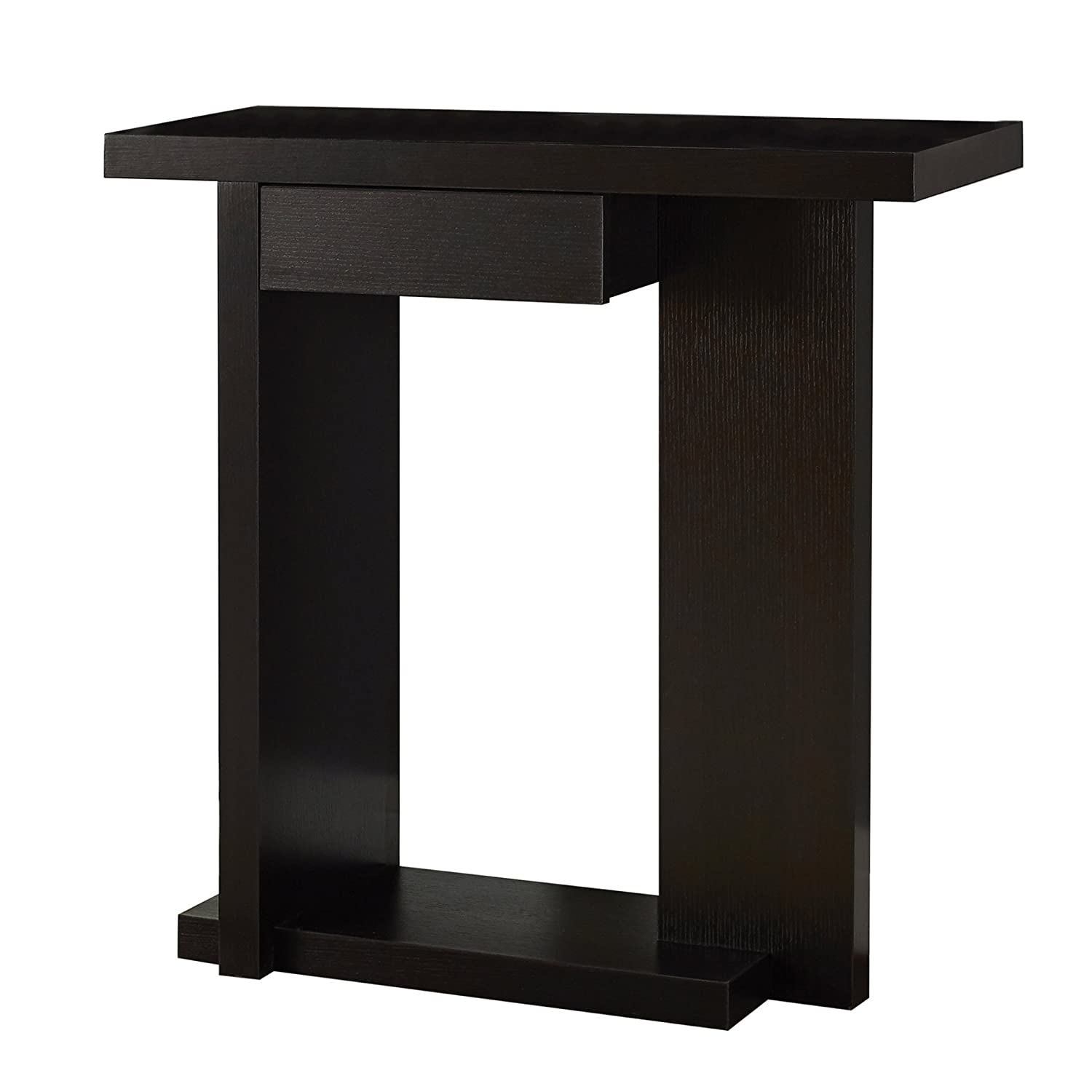 Monarch Specialties Hall Console Accent Table, 32 , Cappuccino