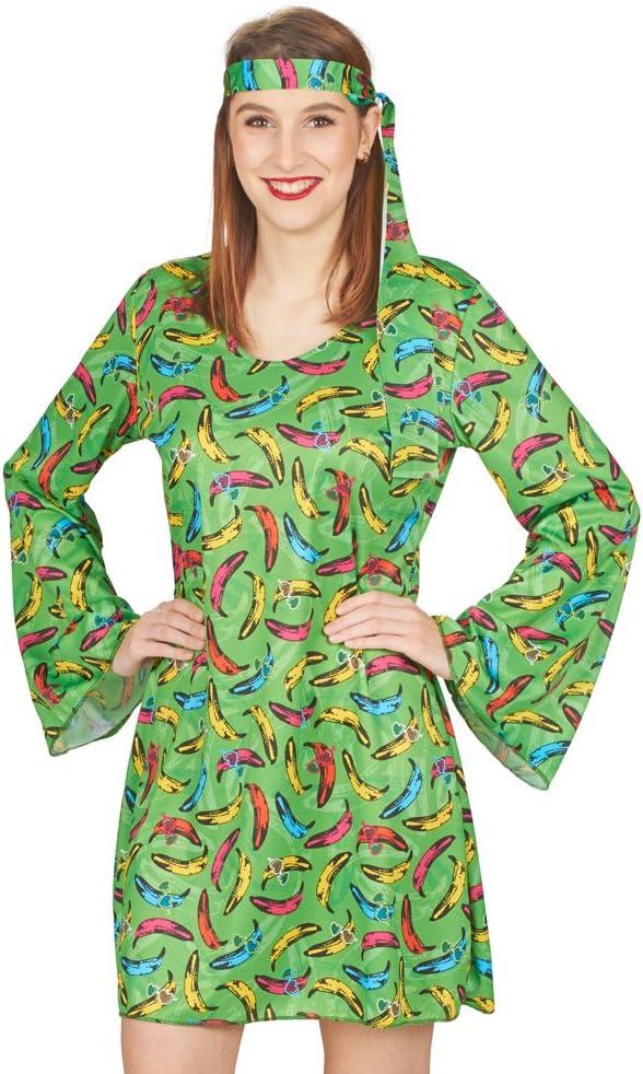 Andrea Moden Disfraz de Hippie Retro para Mujer de Pop Banana ...