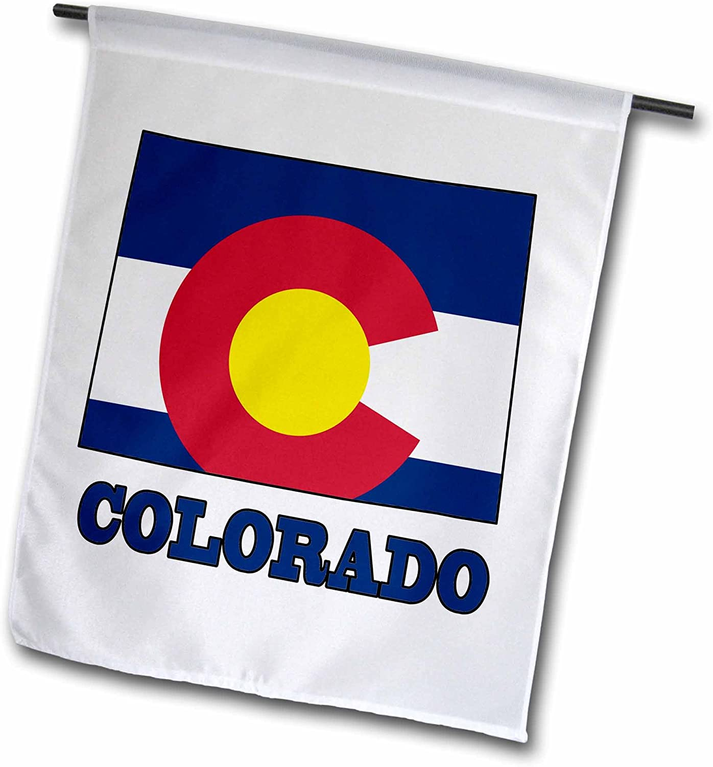 3dRose fl_58726_1 Colorado State Flag in The Outline Map and Letters of Colorado Garden Flag, 12 by 18-Inch