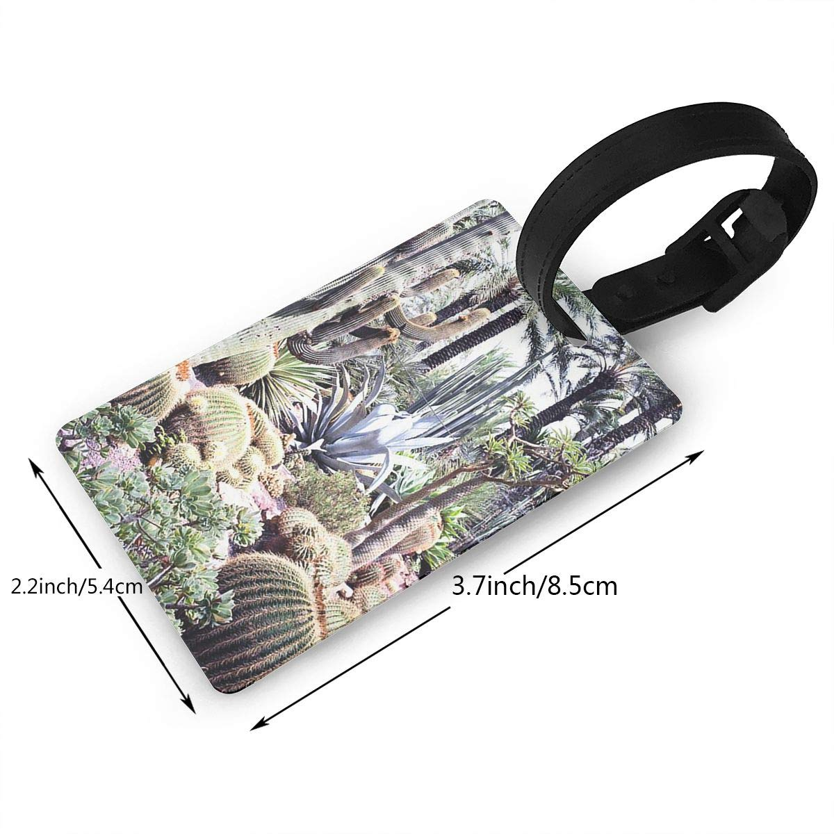 2 Pack Luggage Tags Cactus Cacti Baggage Tag For Suitcase Bag Accessories