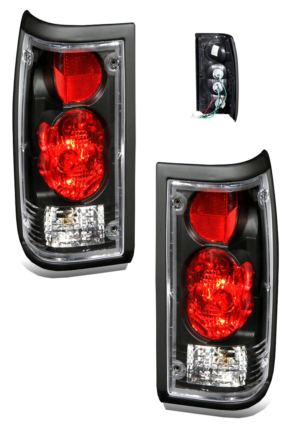 Amazon.com: SPPC Black Euro Tail Lights Assembly Set For Mazda B2000 -  (Pair) Driver Left and Passenger Right Side Replacement: Automotive